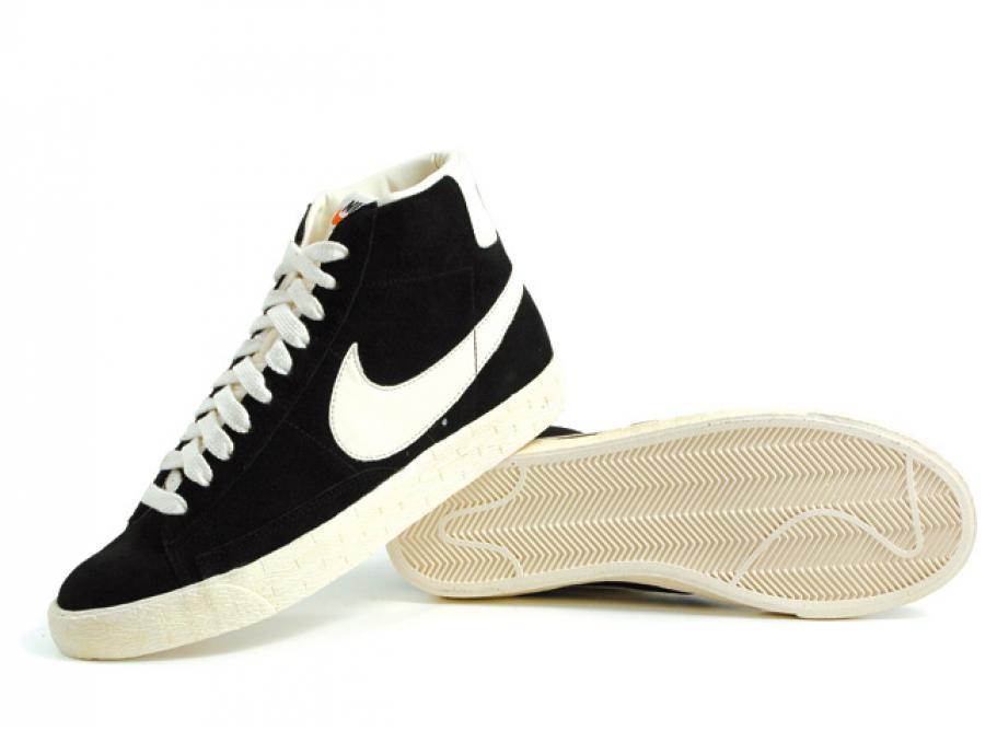 Nike Blazer Mid Premium Vintage Suede Black   Sail   Soldes   Novoid ... f39aae864