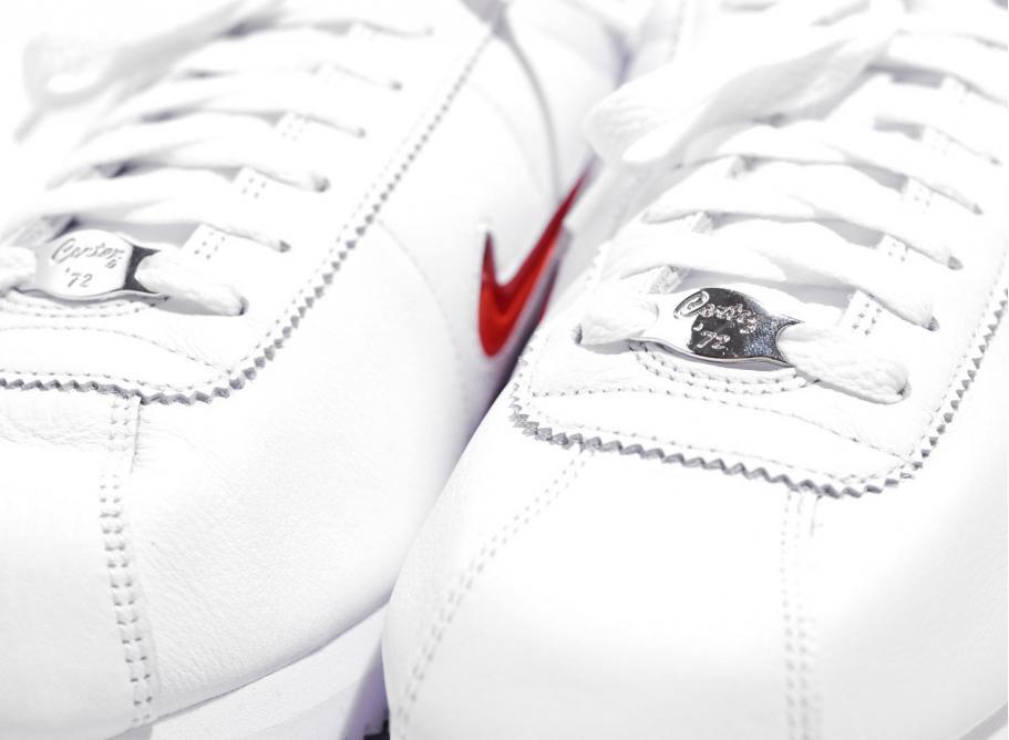 d48b70d699 Nike Cortez Basic Jewel QS White / Red 938343-100 / Soldes / Novoid Plus