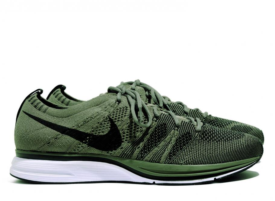 02a30c8aee906 Nike Flyknit Trainer QS Medium Olive AH8396-200   Soldes   Novoid Plus