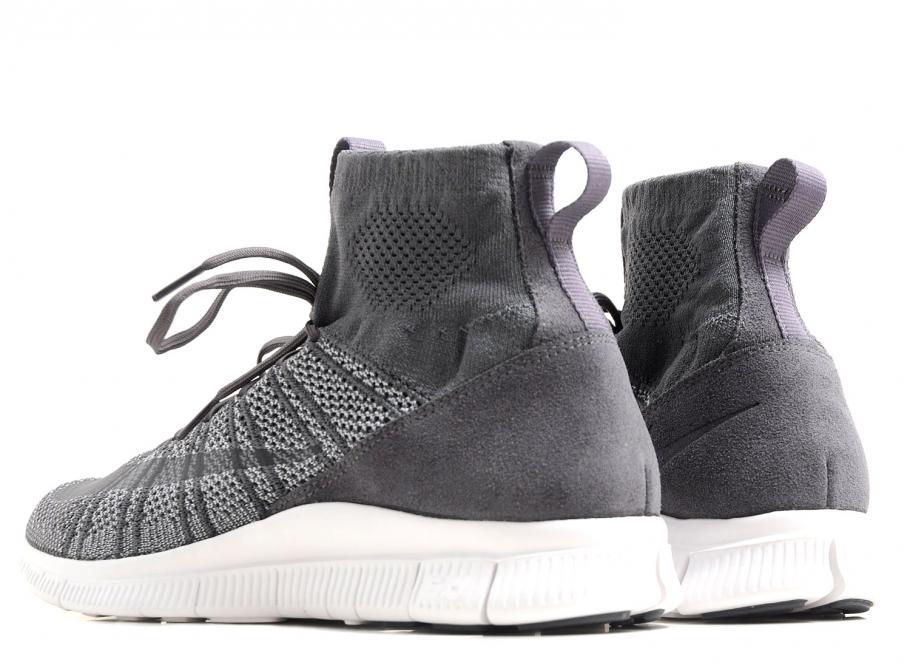 7fc6bce84add Nike Free Flyknit Mercurial Dark Grey   White 667978-009   Soldes ...