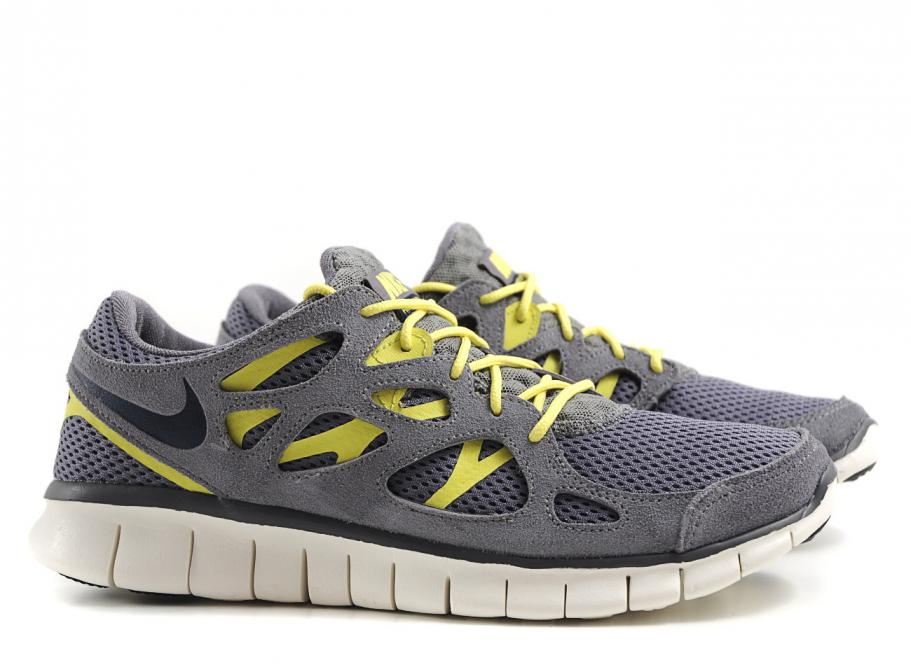 new product a1677 8d82c Nike Free Run 2 Cool Grey / Armory Navy / Sync Yellow
