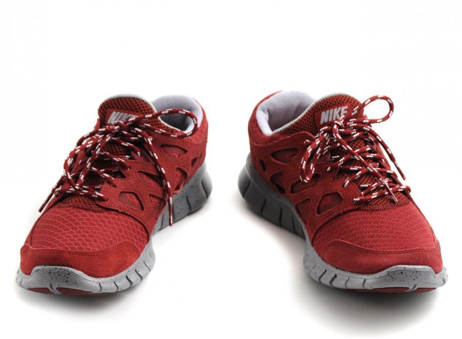 innovative design b2572 ae04b NIKE FREE RUN +2 TEAM RED  METALLIC SILVER