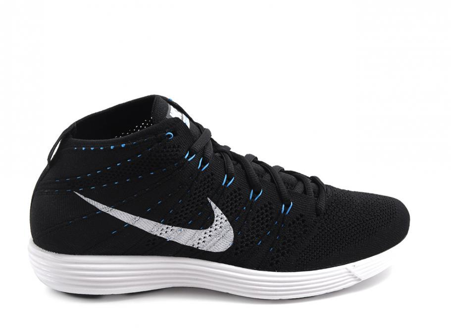 e6f959763ee0 Nike Lunar Flyknit Chukka Black   White   Neo Turquoise   Soldes   Novoid  Plus