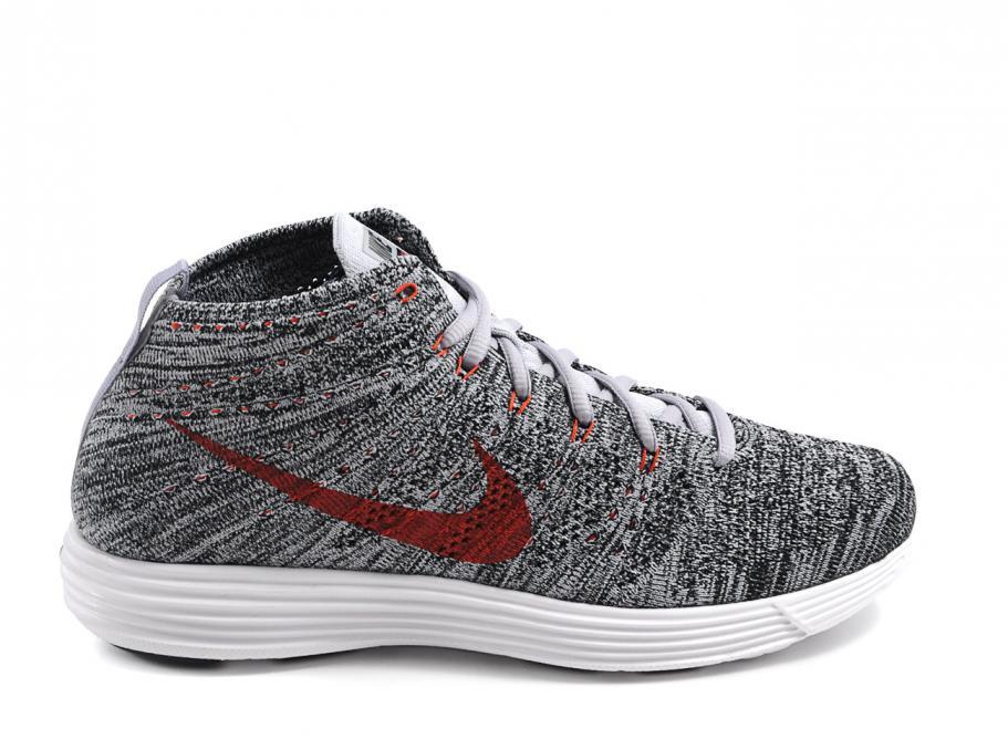 cc095c92ffa6 Nike Lunar Flyknit Chukka Wolf Grey   Black   White   Soldes   Novoid Plus