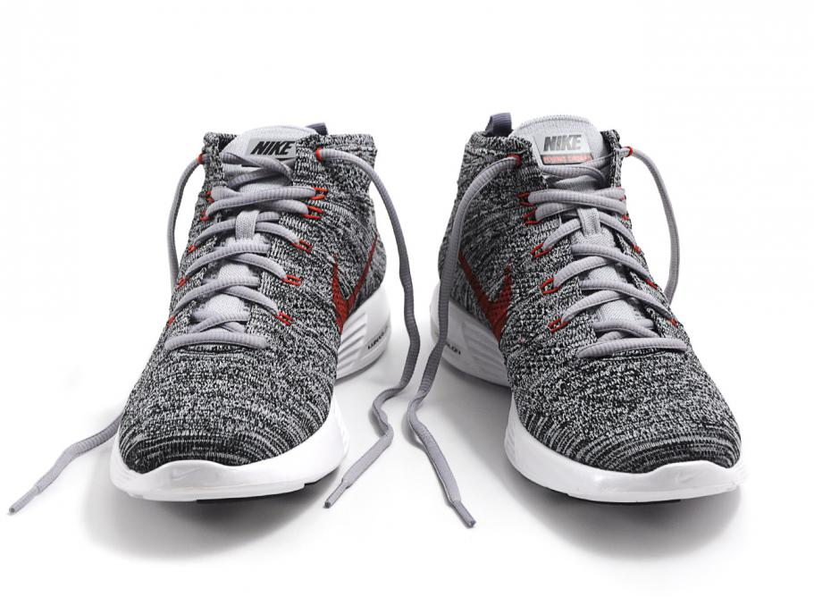 detailed look 84689 17238 Nike Lunar Flyknit Chukka Wolf Grey / Black / White
