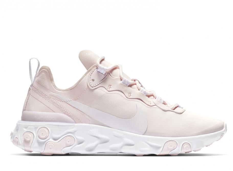 fdf9b48b4a920 Nike Wmns React Element 55 Pale Pink BQ2728-600   Soldes   Novoid Plus