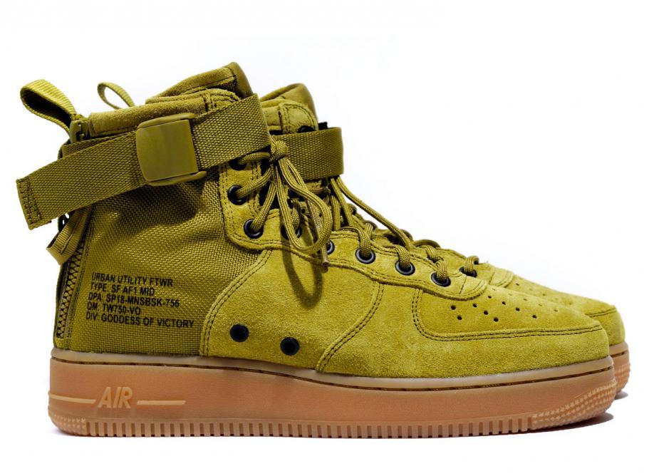 meet 7f178 2959e Nike SF AF1 Mid Desert Moss 917753-301   Soldes   Novoid Plus