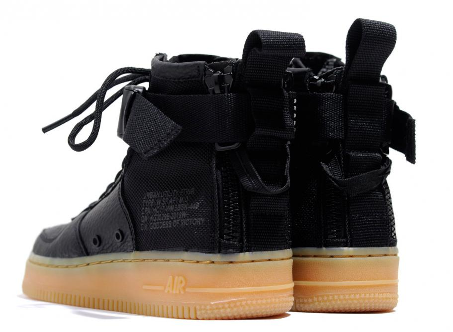 Wmns Nike Mid Sf 1 Force Air Gum Black vfgyY6b7