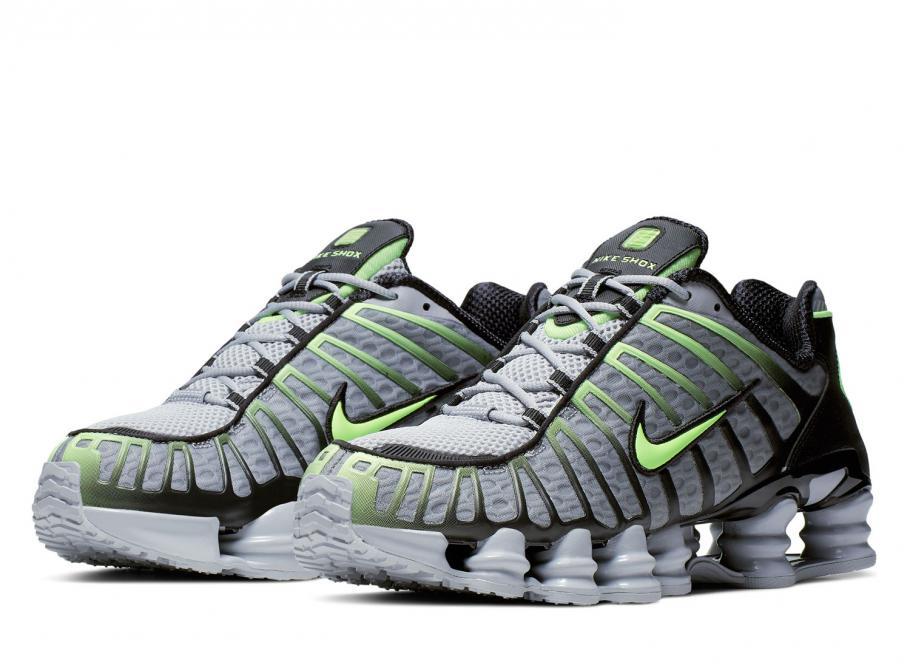 Nike Shox TL Wolf Grey / Lime Blast