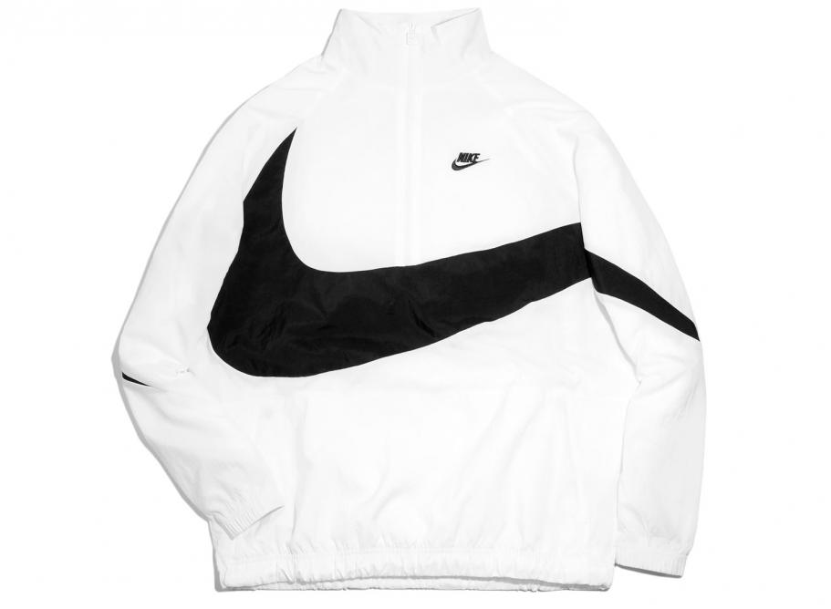 Nike Swoosh Half-Zip Jacket White