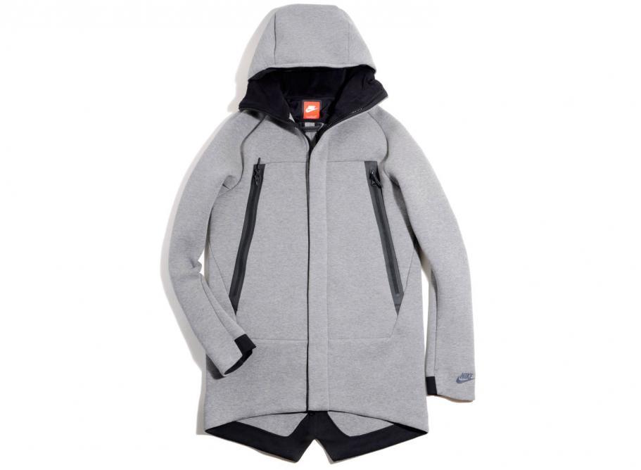 521ddc02bcace Nike Tech Fleece Parka 3MM Grey 805142-091   Soldes   Novoid Plus