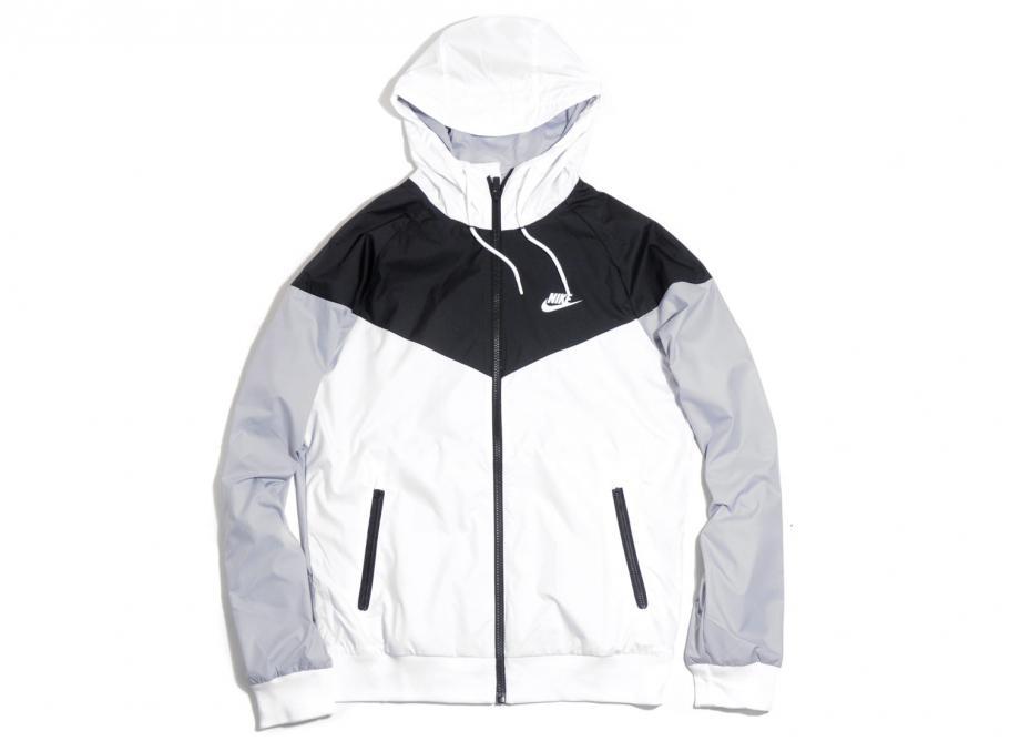 28e1ff0cbcb Nike Sportswear Windrunner Jacket White / Black 727324-101 / Soldes /  Novoid Plus