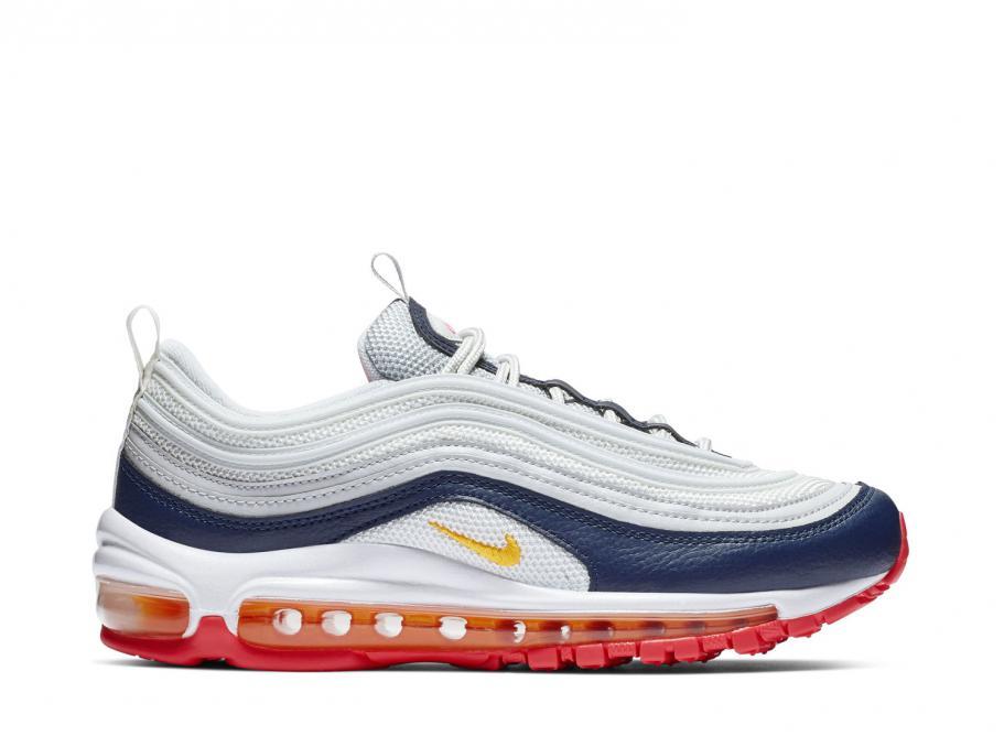 db3336d6f98 Nike Wmns Air Max 97 Pure Platinum / Laser Orange 921733-015 / Soldes /  Novoid Plus