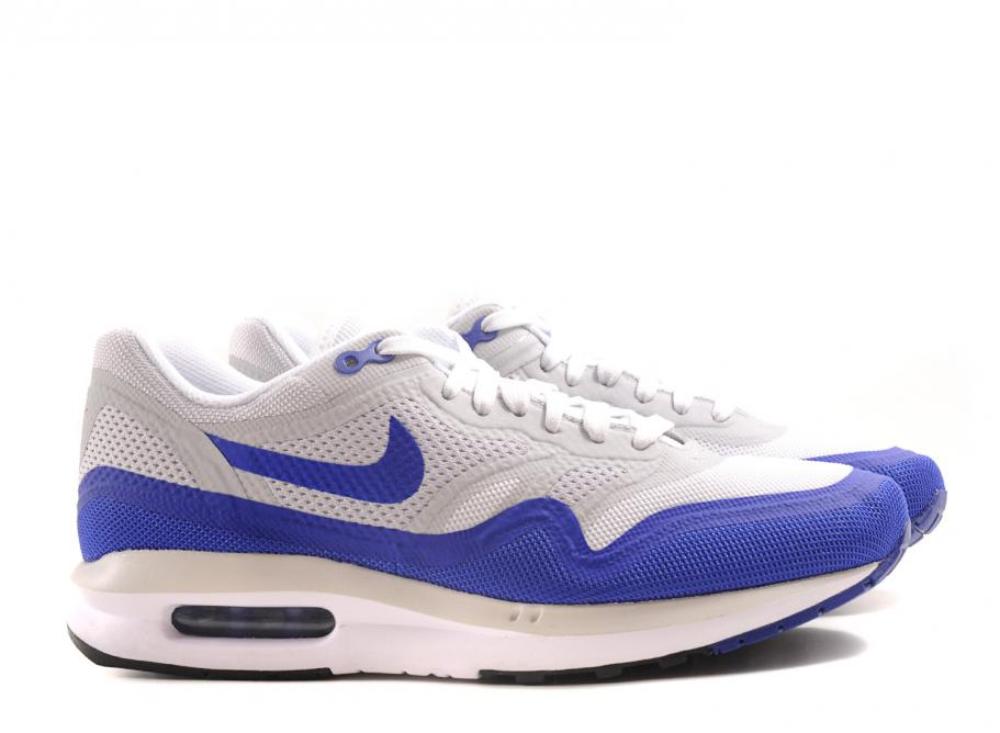 Nike Wmns Air Max Lunar 1 White   Game Royal   Soldes   Novoid Plus 932feaed5