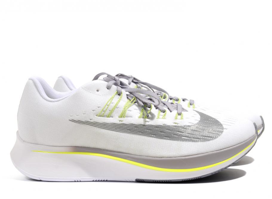 728108cc1373d Nike Zoom Fly White   Gunsmoke 880848-101   Soldes   Novoid Plus