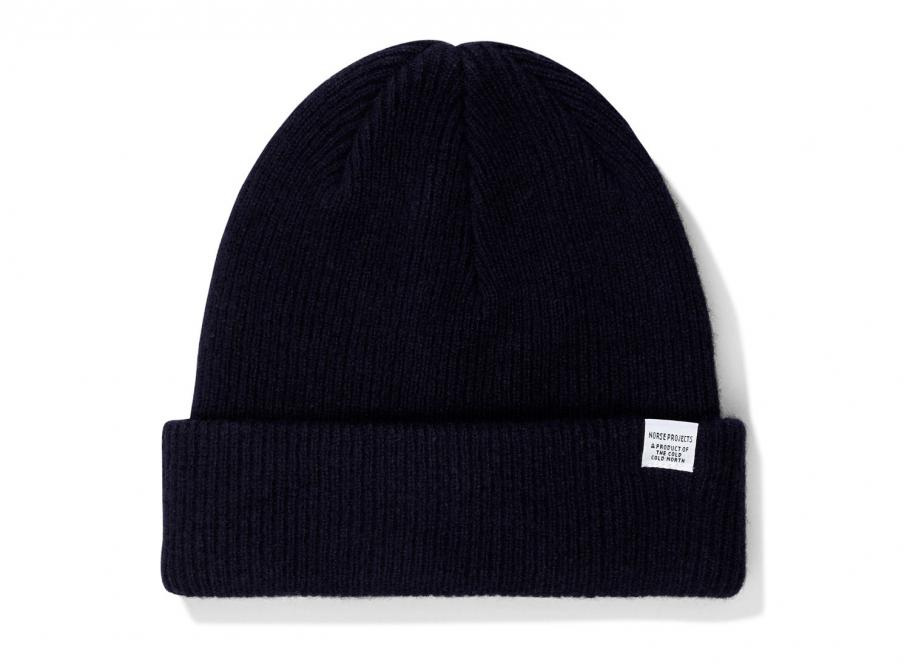c10e5eb7f8ff56 Norse Projects Norse Beanie Dark Navy / Soldes / Novoid Plus