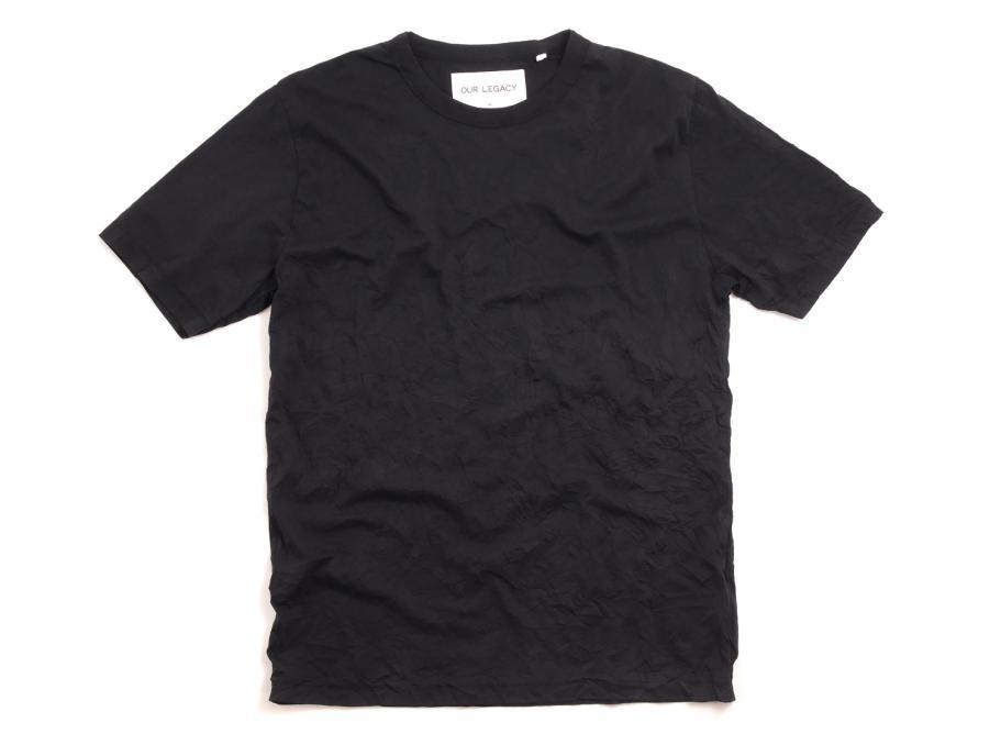 9bb5dbb9f6e Our Legacy Mid Sleeve Tee Crinkle Black / Soldes / Novoid Plus