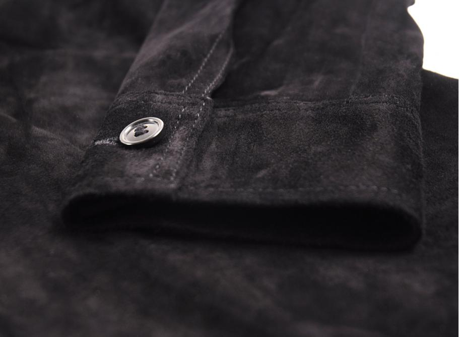 798504867b85 Our Legacy Suede Zip Shirt Black Suede   Soldes   Novoid Plus