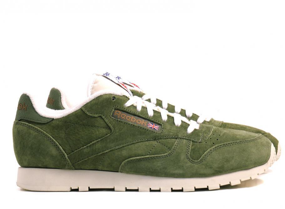 0371ff03a38f Reebok Classic Leather Clean UJ Camopy Green   Soldes   Novoid Plus