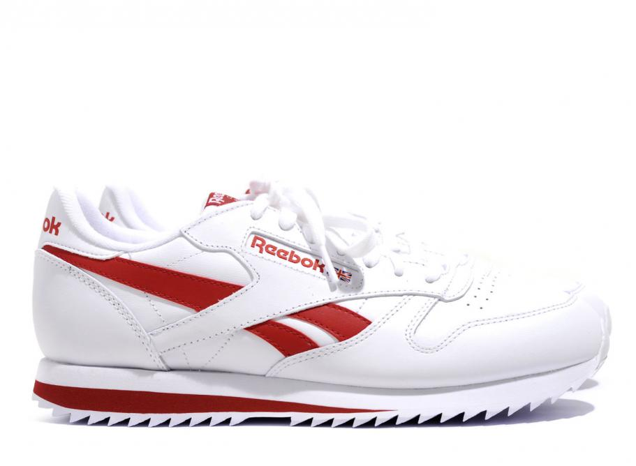 6a3846b37d765 Reebok Classic Leather Ripple Low White   Red BS8299   Soldes   Novoid Plus