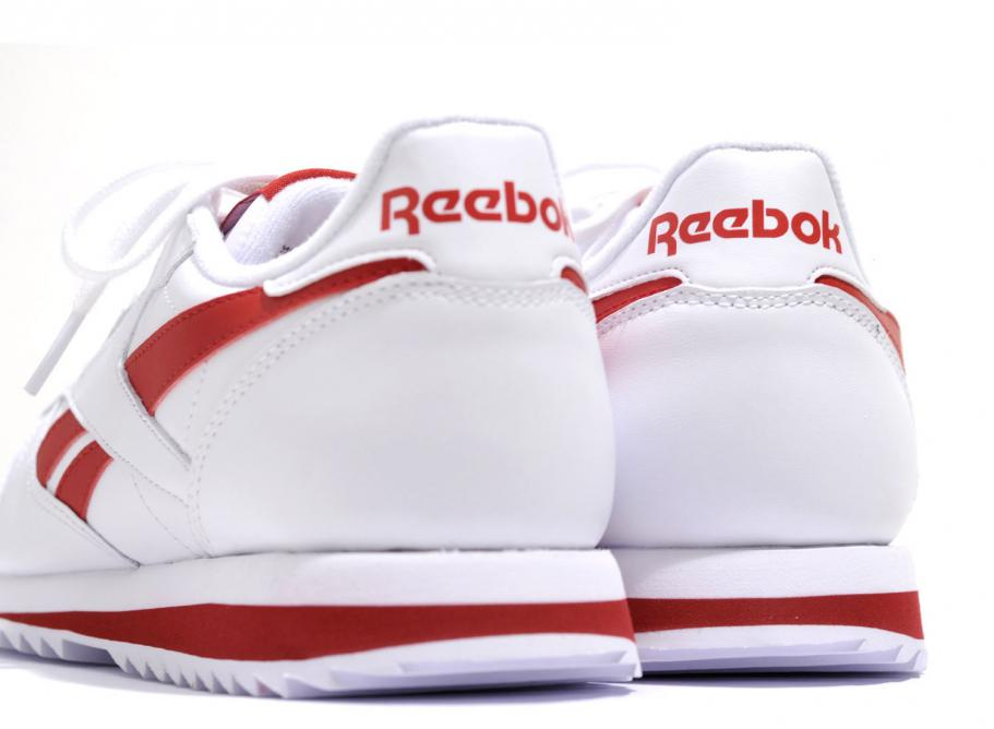 1ecebb684 Reebok Classic Leather Ripple Low White / Red BS8299 / Soldes ...
