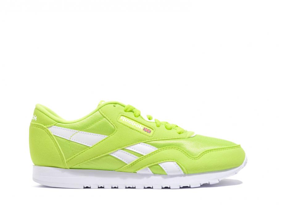 neon green reebok classics \u003e Clearance shop