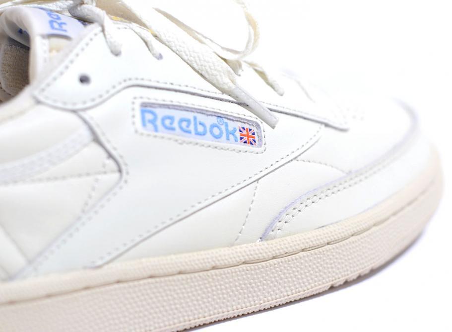 7bacc26e4633 Reebok Club C 85 Vintage Chalk   Blue V69406   Soldes   Novoid Plus