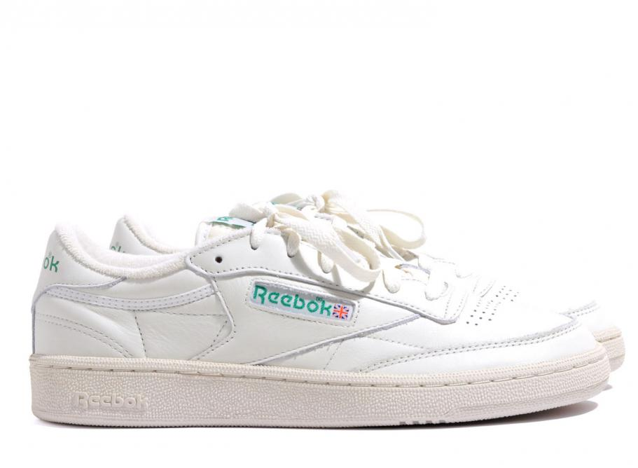 f6251d5be36 Reebok Club C 85 Vintage Chalk   Green V67899   Soldes   Novoid Plus