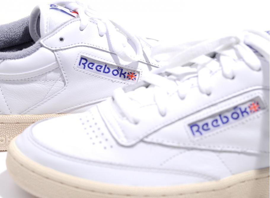 reebok vintage. reebok club c 85 vintage white / royal grey reebok vintage