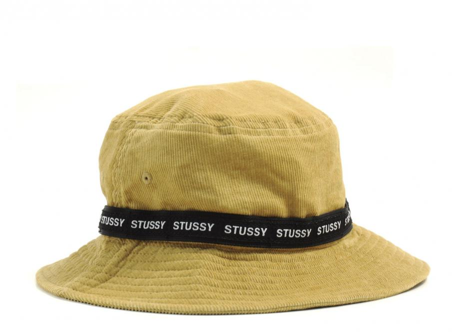 9a2c33d6c1b Stussy Band Corduroy Bucket Hat Khaki   Soldes   Novoid Plus