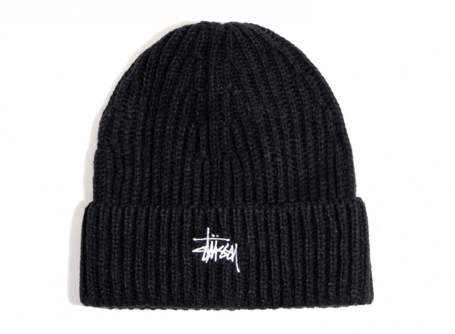 Stussy Basic Stock Cuff Beanie Black   Soldes   Novoid Plus 9d569a24bf5