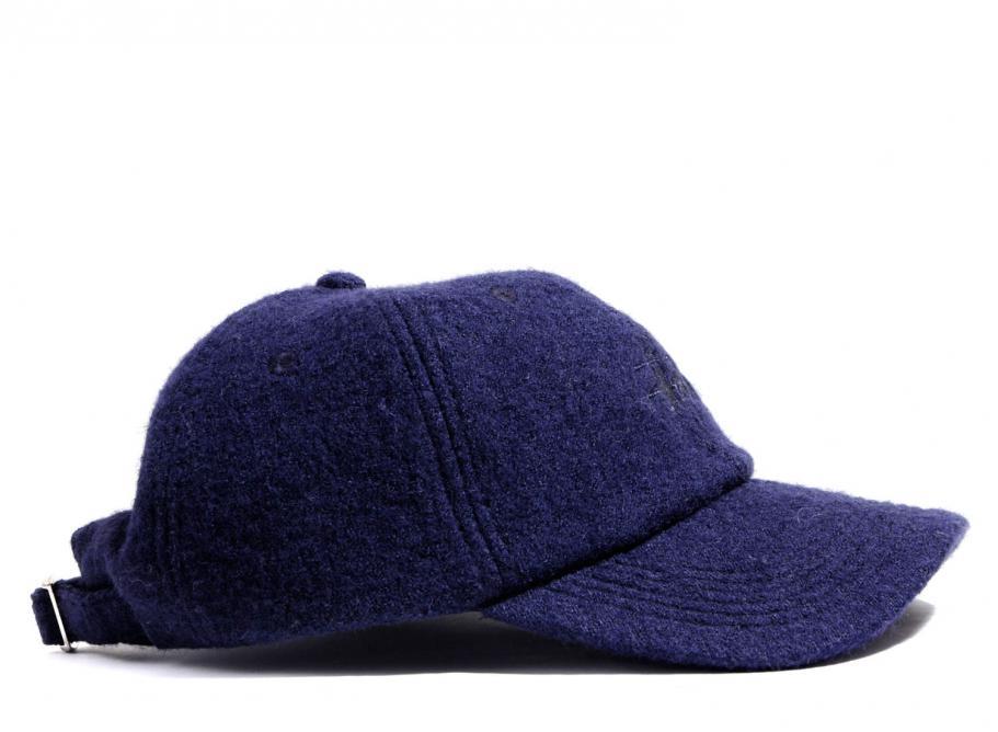 Stussy Boiled Wool Stock Logo Cap Navy   Soldes   Novoid Plus fb7c686dfaf