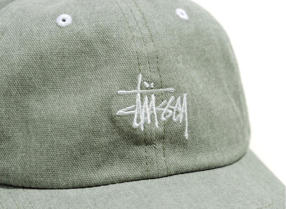0bd01b44be0 Stussy Washed Stock Low Pro Cap Green   Soldes   Novoid Plus