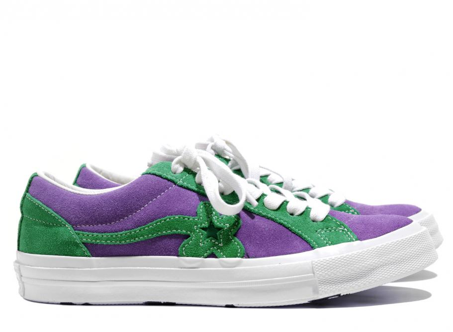 enjoy lowest price factory outlets 2019 real Converse One Star Golf Le Fleur Purple Heart / Jolly Green