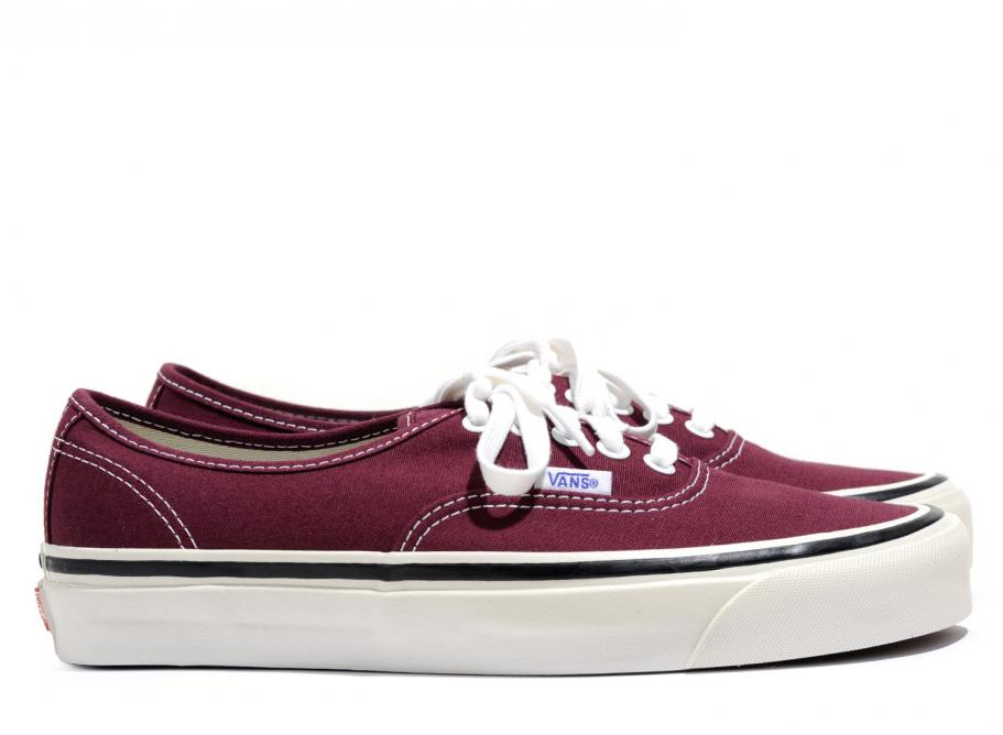 5892d8c59ff717 Vans Authentic 44 DX Anaheim Factory OG Burgundy   Soldes   Novoid Plus