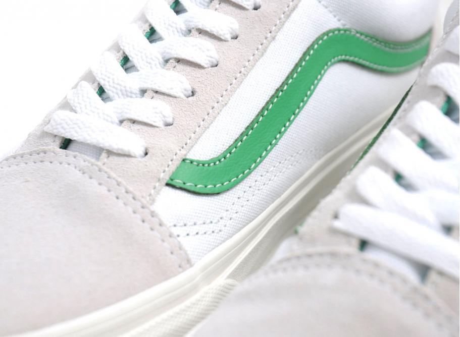 Vans Old Skool White Green