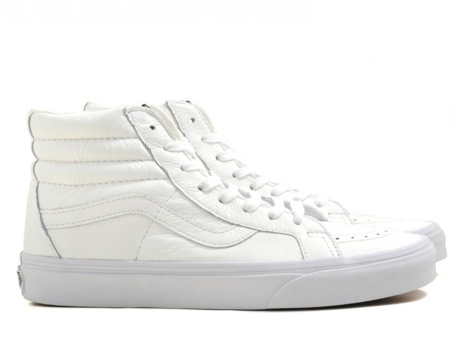 dc7e8c5f13e Vans Sk8 Hi Reissue Premium Leather True White / Soldes / Novoid Plus