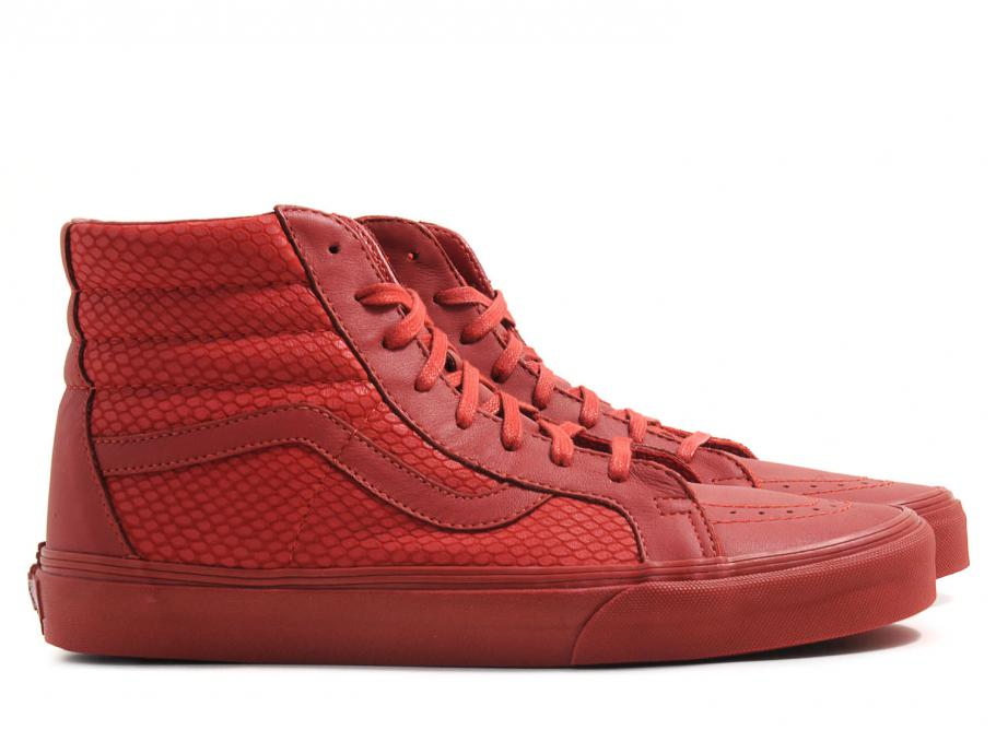8c140fbed6 Vans Sk8 HI Reissue Snake Leather Chili Pepper   Soldes   Novoid Plus