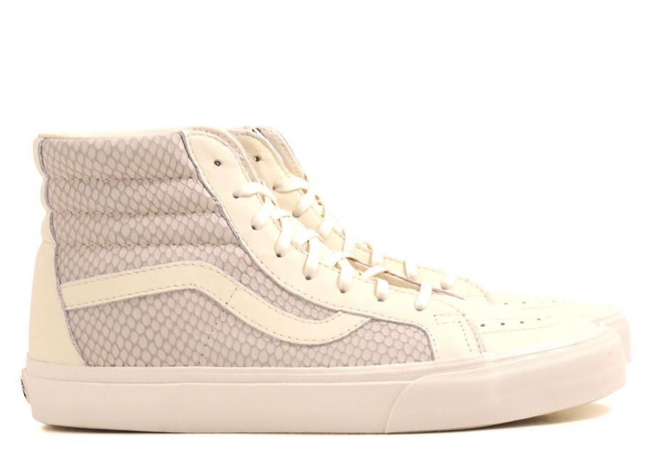 ee41fa71a5 Vans Sk8 HI Reissue Snake Leather Antique White   Soldes   Novoid Plus