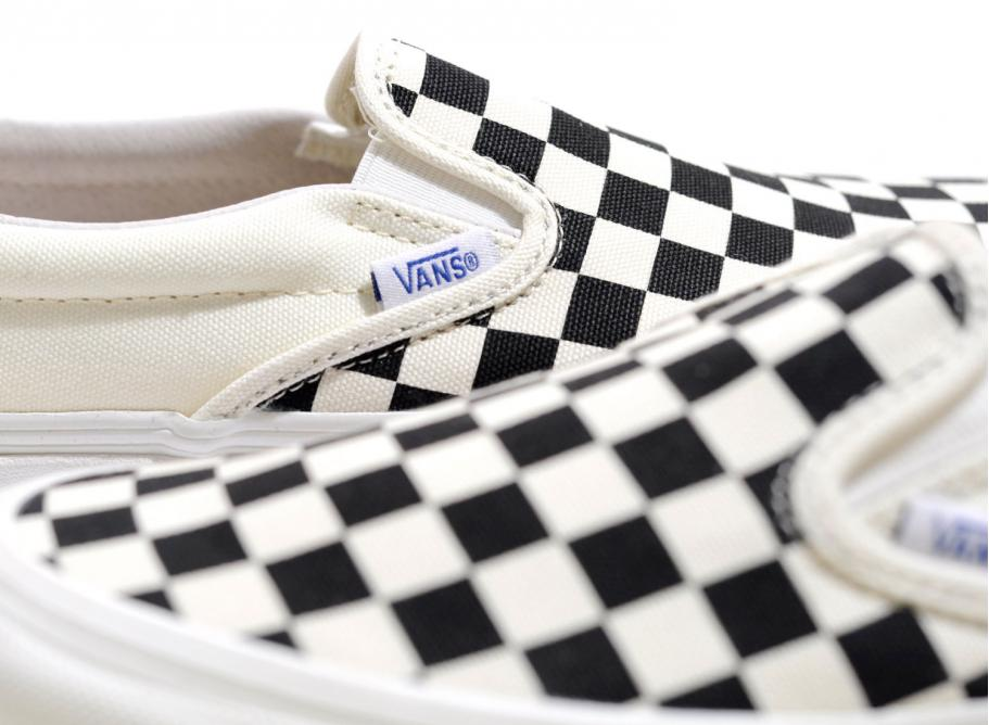 cd3bf24c428 Vans Vault OG Classic Slip On LX Checkerboard Black   White   Soldes ...