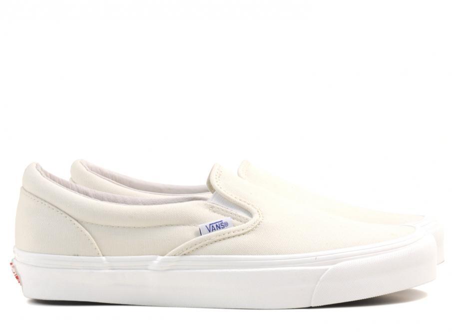 de32d28b0d Vans Vault OG Classic Slip On LX Canvas Classic White   Soldes   Novoid Plus