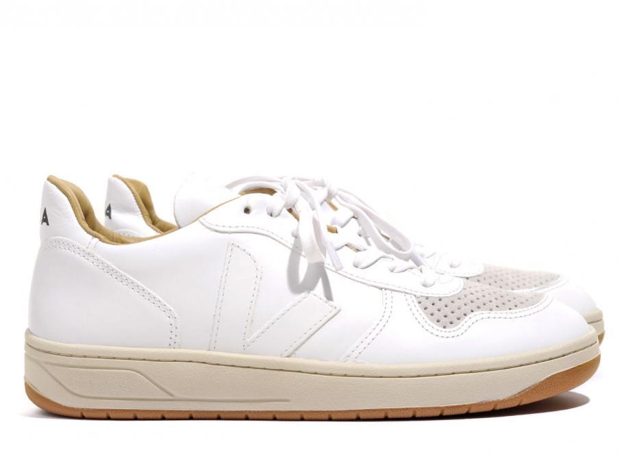 Veja V10 Bastille Leather Extra White
