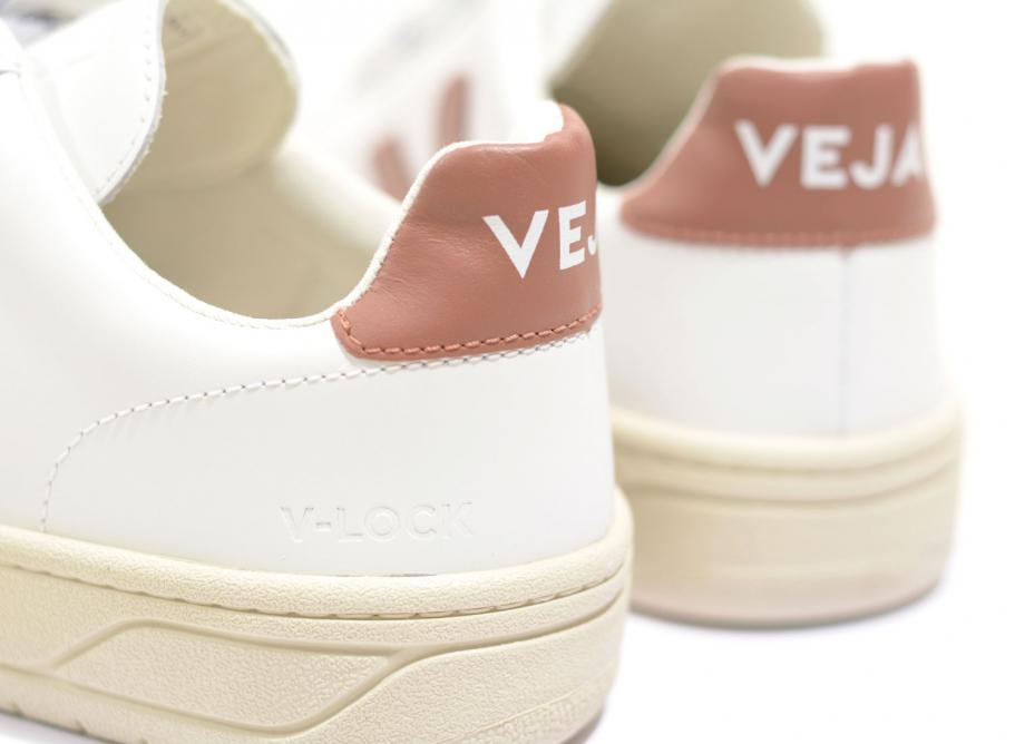 Veja V12 Velcro Leather Extra White